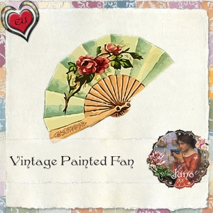 juno CU Vintage Painted Fan