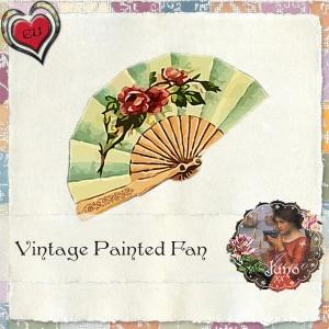 juno CU Vintage Painted Fan
