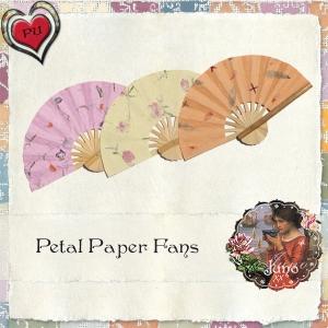 juno Petal Paper Fans