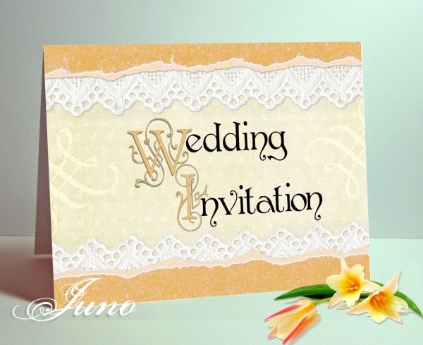 juno 5x7in Wedding Invitation