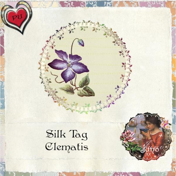 juno Silk Tag, Clematis