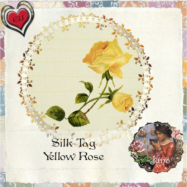 juno Silk Tag, Yellow Rose