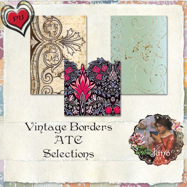 juno Vintage Borders ATC Selections