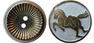 juno Verdigris Buttons