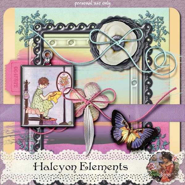 "Free scrapbook ""Halcyon: Elements"" by Junosplace"