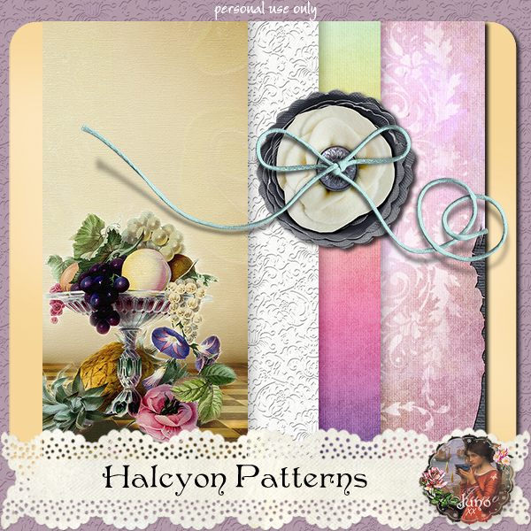 """Free scrapbook """"Halcyon: The Patterns"""" by Junosplace"""