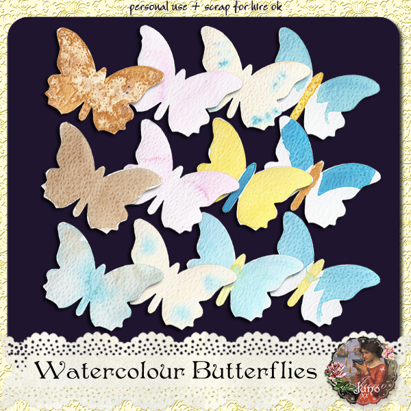 juno Watercolour Butterflies