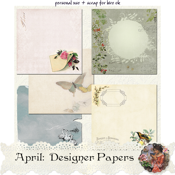 juno April Designer Papers