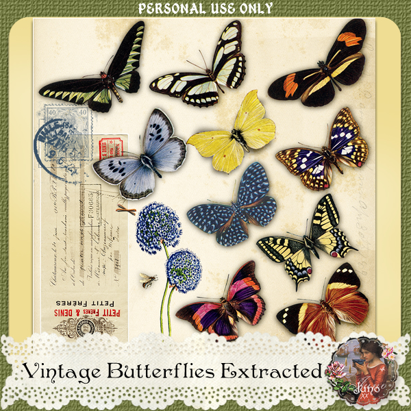 _juno Vintage Butterflies Extracted