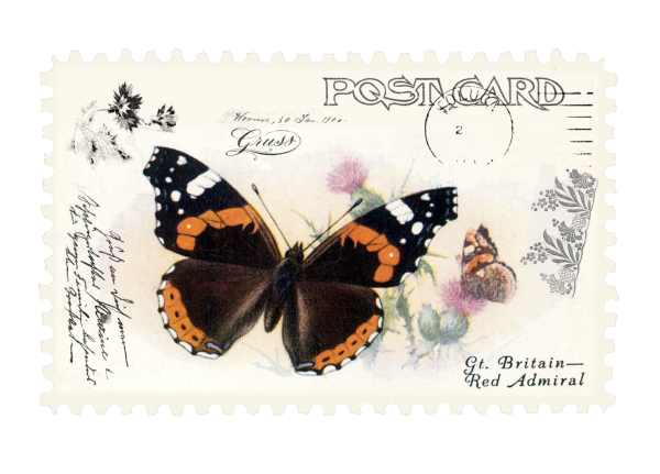 juno Vintage Butterfly Postage Stamp 3