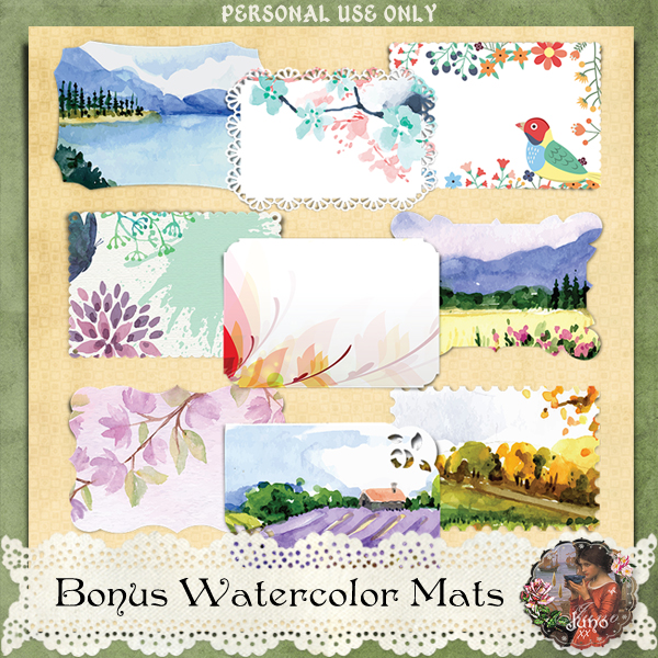 _juno Bonus Watercolor Mats